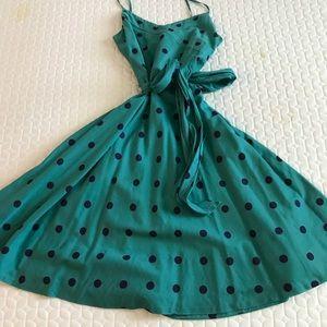 Marc Jacobs Green & Blue Polka Dot Dress, sz 8